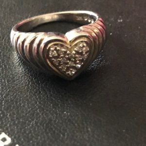 Sterling ring with diamonds